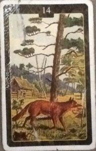 Scarabeo Lenormand Fox Card