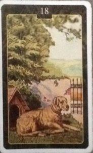 Scarabeo Lenormand Dog Card