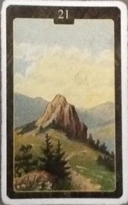 Scarabeo Lenormand Mountain Card