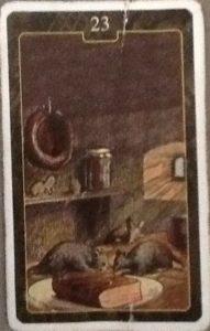 Scarabeo Lenormand Mice Card