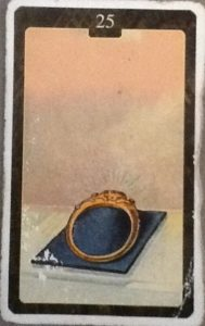 Scarabeo Lenormand Ring Card