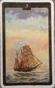 Scarabeo Lenormand Ship Card