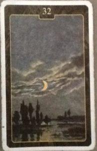 Scarabeo Lenormand Moon Card