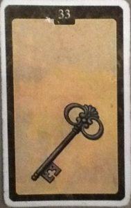 Scarabeo Lenormand Key Card