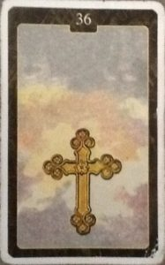Scarabeo Lenormand Cross Card