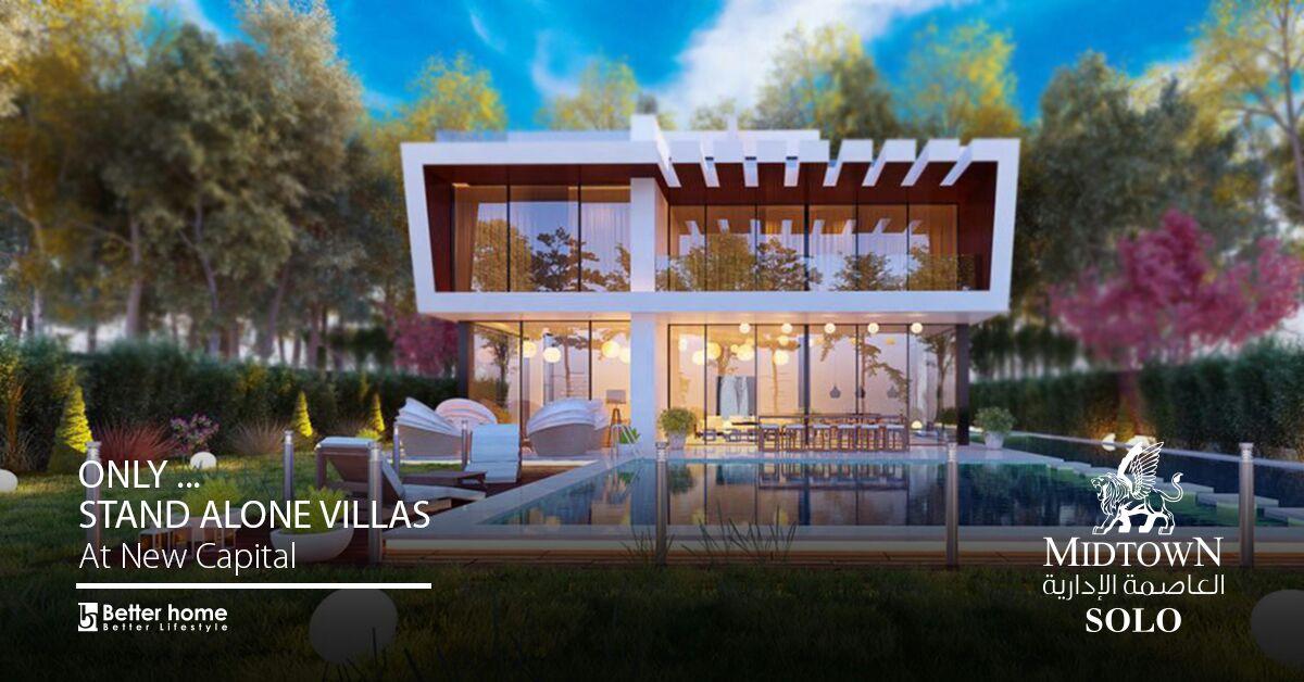 Villa Standalone In Compound MidTown solo New Capital