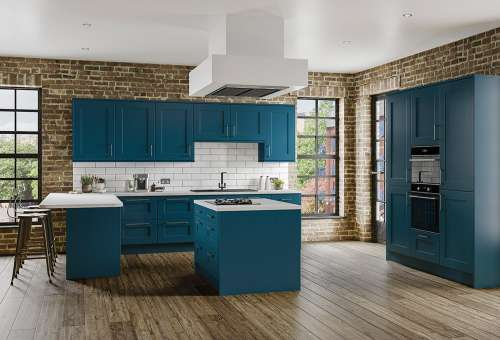Colonial_Caton Midnight Blue shaker kitchen