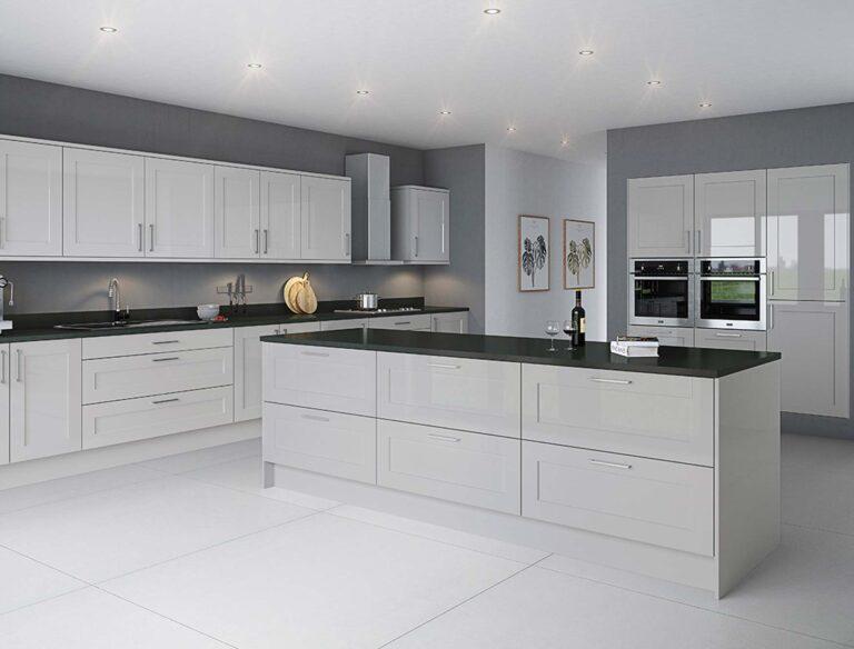 sloent gloss grey mist kitchen