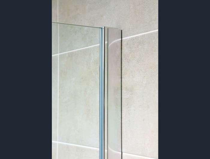 Oxford Walk-in Fixed Clear Glass & Chrome Shower Screen