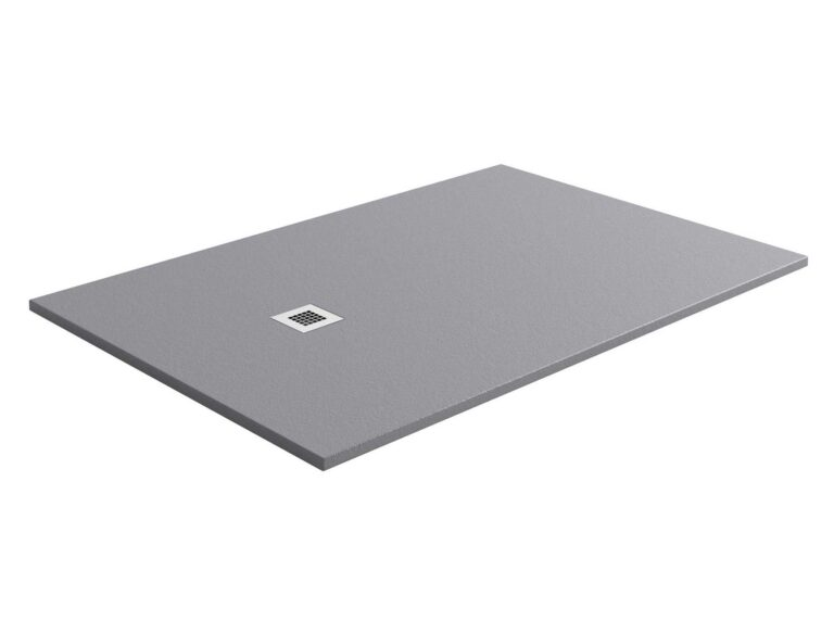 Providing a clean and minimalist finish for the bathroom. This designer shower tray has been made with a natural stone resin, complete with a gel coat slate textured finish, providing excellent durability and anti-bacterial properties, as well as a grade three anti-slip rating