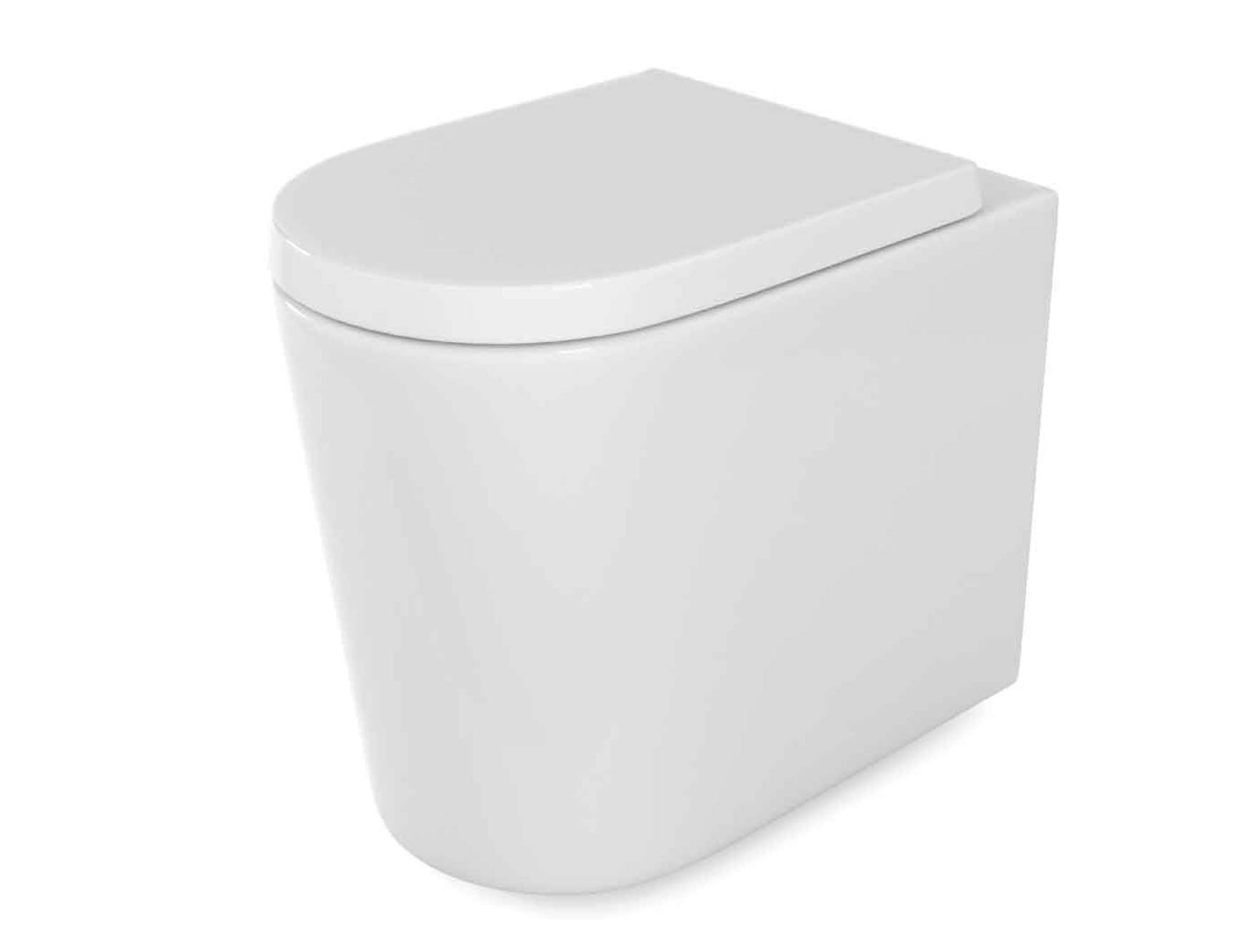 Zadok Rimless Back To Wall Toilet Soft Close Seat