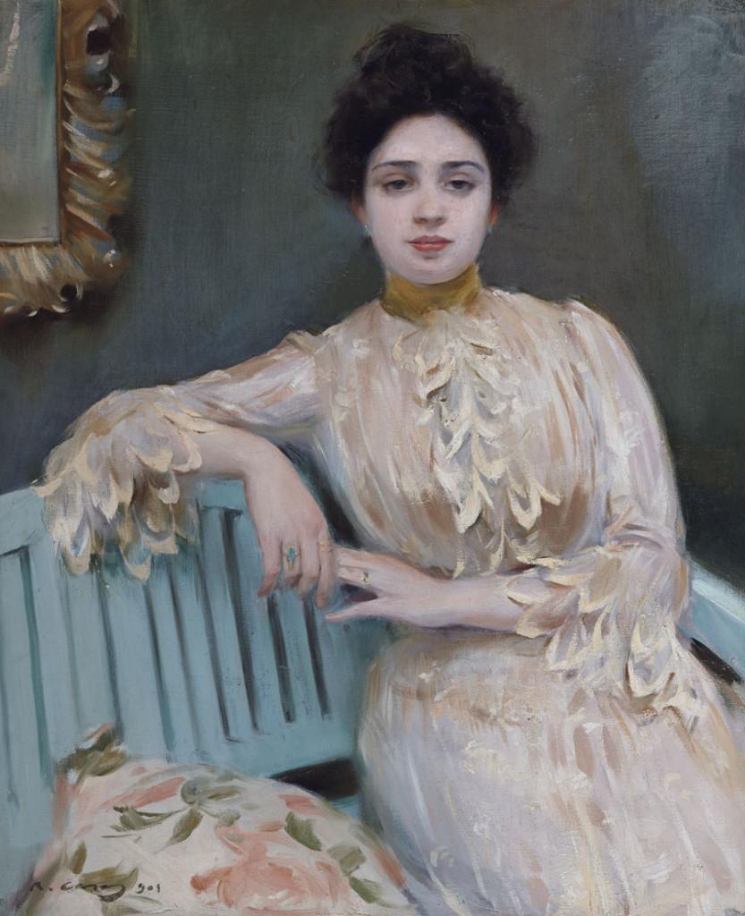 Retrato de Mercedes Llorach, 1901, Ramón Casas.