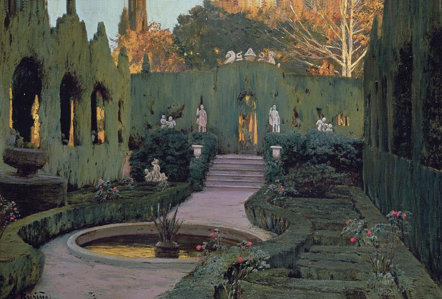 Jardines de Monforte, c.1917, Santiago Rusiñol