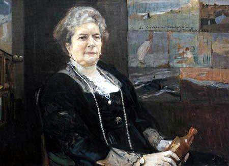 Retrato de la Condesa de Lebrija realizado por Sorolla en 1914.