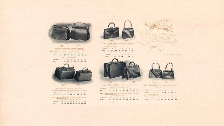 La primera línea de bolsos para mujer creada por Pauline Moynat en 1878.