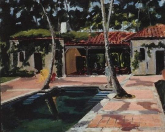 Casa Alva, built in the mid-1930s for Consuelo Vanderbilt Balsan. Painting by Winston Churchill