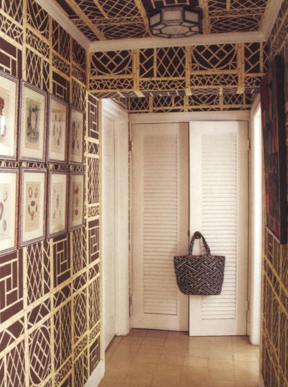 John Knots and John Fonda. Lyford trellis wallpaper