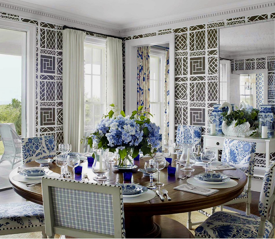 Lyford Trellis wallpaper. Tom Scheerer design