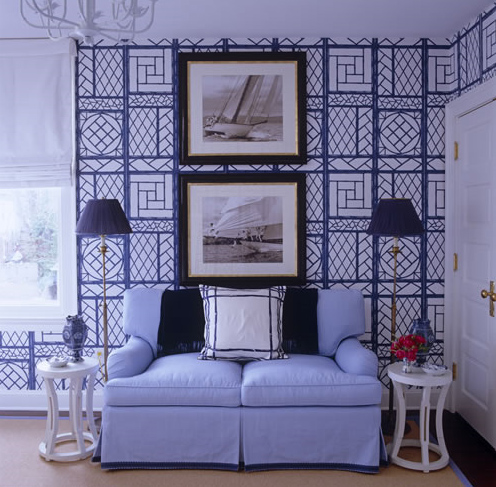 Meg Braff, Lyford Trellis wallpaper