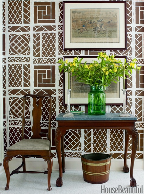 Tom Scheerer, Lyford Trellis wallpaper