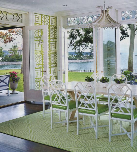 lyford trellis wallpaper., design Eugenie Niven Goodman