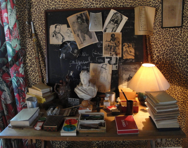 Jean Cocteau's studio at his home in Milly-la-fôret, decorated in collaboration with Castaing.