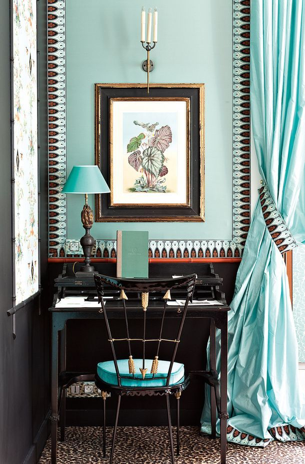 Madeleine Castaing inspired suite at Saint James Hotel, Paris.
