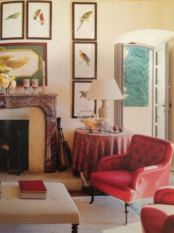 Marella Agnelli's living room in Corsica