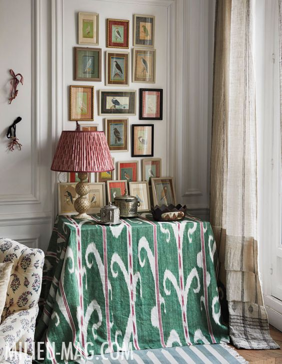 Carolina Irving home in Paris. Milieu Magazine