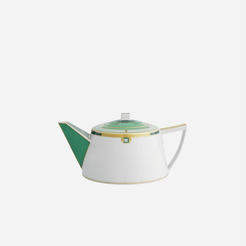 Emerald teapot by Vista Alegre