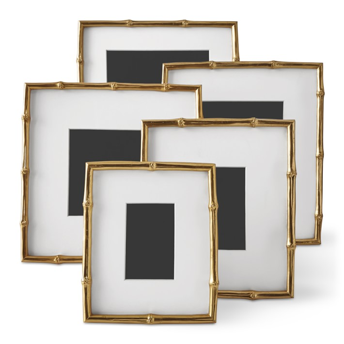 Gilded Bamboo Gallery Frame , Aerin for Williams Sonoma