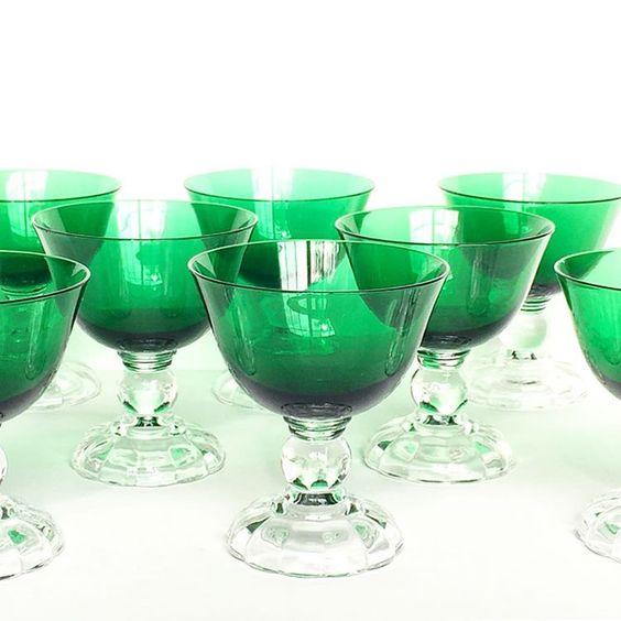Vintage Crystal Glasses. Vero Beach Vintage