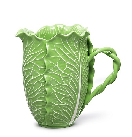 Lettuce Ware Pitcher. Dodie Thayer for Tory Burch