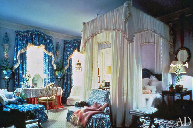 Mario Buatta's Kips Bay Decorator Showhouse, 1984 . Architectural Digest