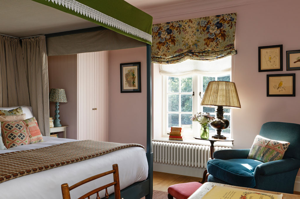 A bedroom at The Garden House by Nicola Harding. Beaverbrook hotel