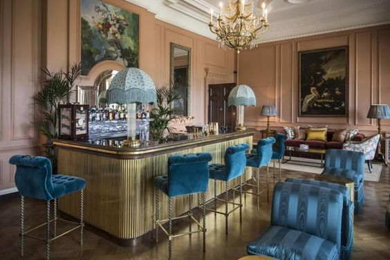 The parrot bar designed by Susie Atkinson. Beaverbrook hotel. Surrey