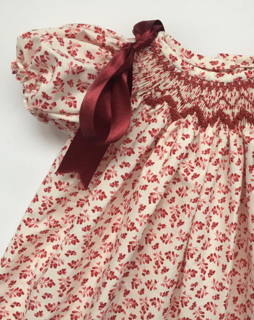 Hibiscus Linen's hand-smocked dress