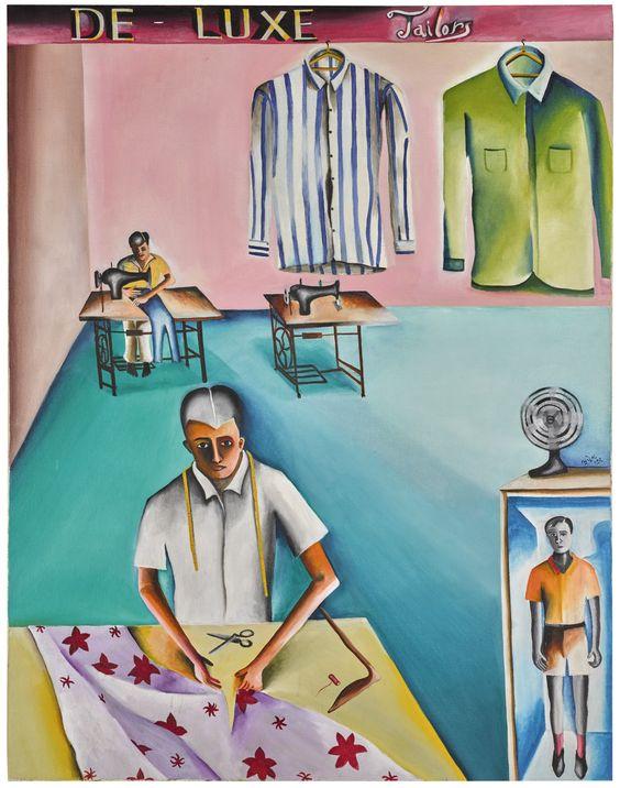 De-Luxe Tailors, Bhupen Khakhar. 1972