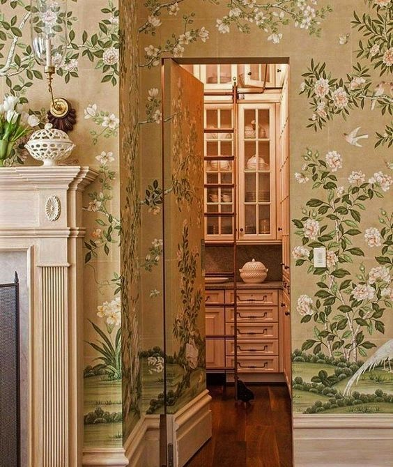 Barry Dixon design. Gracie wallpaper