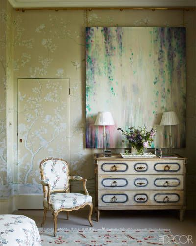 Jemma Kind's Hampshire state. Fromemtal hand-painted wallcovering. Jib Door