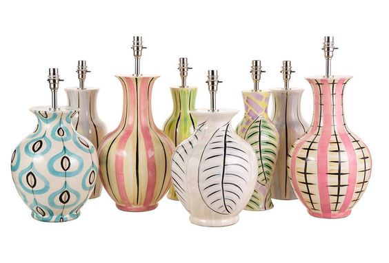 Nina Campbell ceramic base lamps