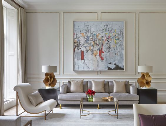 A glamorous yet comfortable home in Belgravia by Todhunter Earle