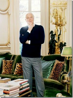 Hubert de Givenchy in his 18th-century Parisian townhouse at rue de Grenelle