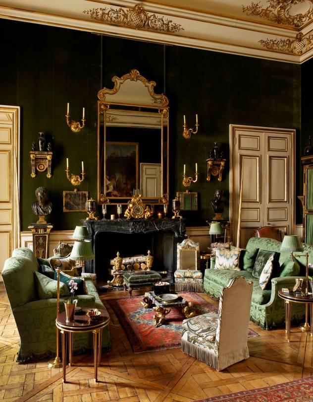 Hubert de Givenchy's Parisian salon.