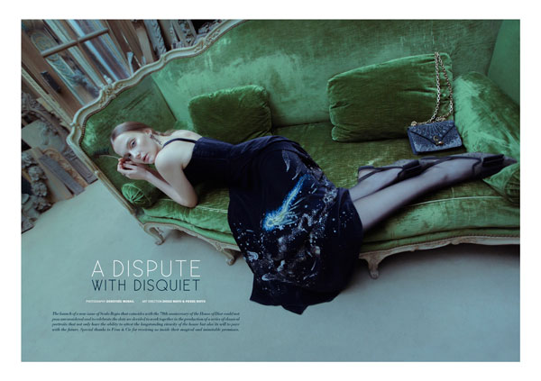 A dispute with disquiet. A Dior exclusive for this issue's cover story.