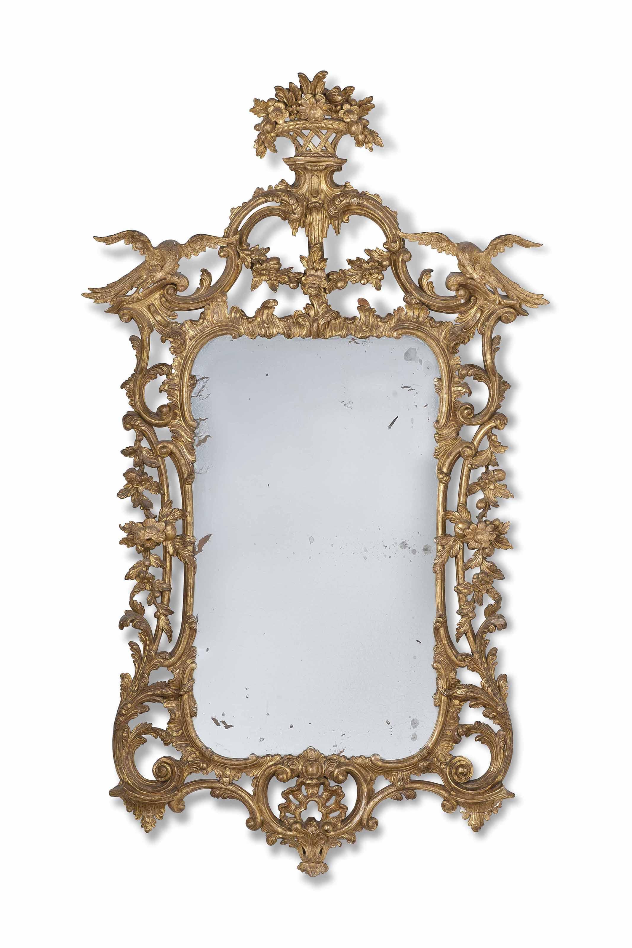 George III Giltwood mirror, c.1755Faringdon House