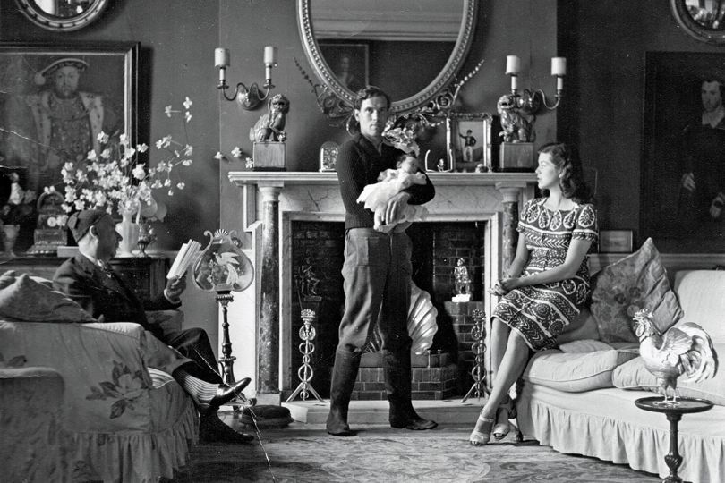 Faringdon House Cecil Beaton's portrait of Lord Berners, the Mad Boy, holding Sofka's mother as a baby, and Jennifer.