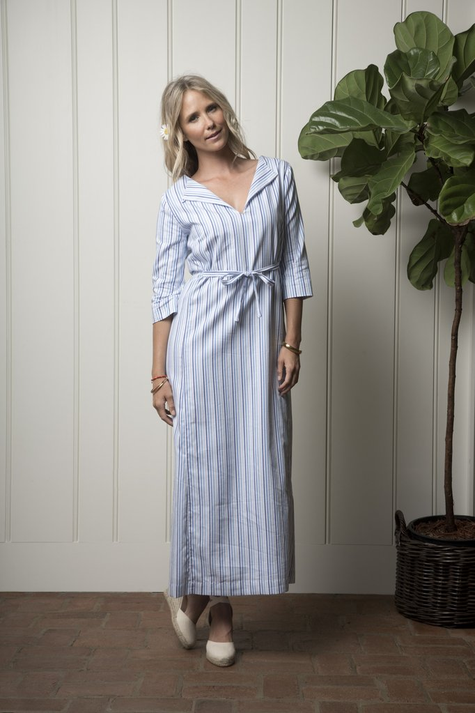 Carmel Cabana dress -ocean stripe by Olivia Joffrey