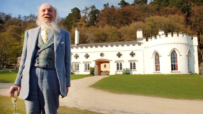 Garech Browne in front of Luggala