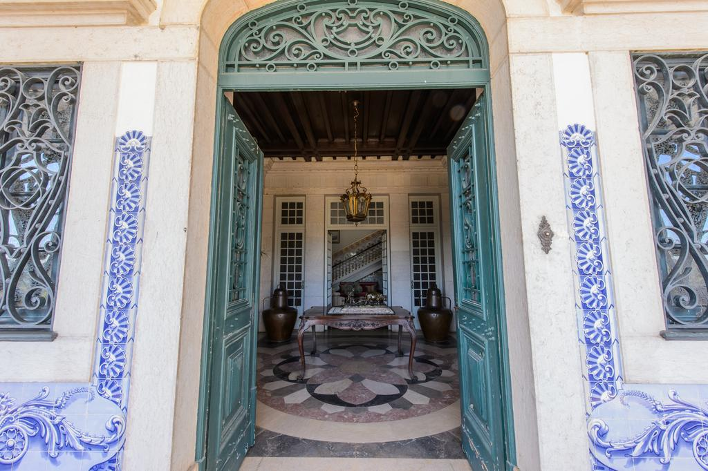 Beautiful blue and white tiles at Palacio de Rio Frio Bed and Breakfast in Portugal